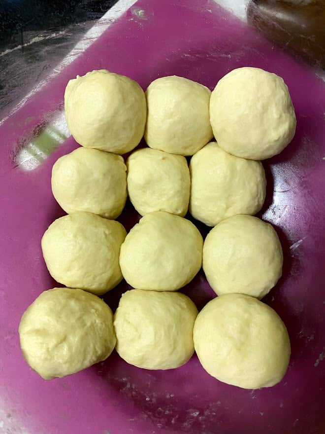 dough balls for flour tortillas