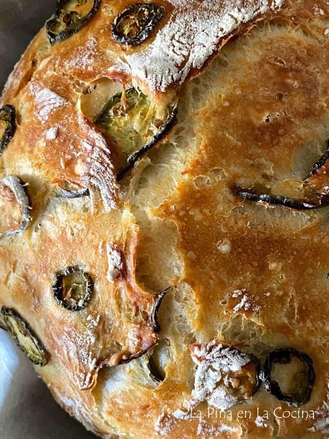Jalapeño bread close up
