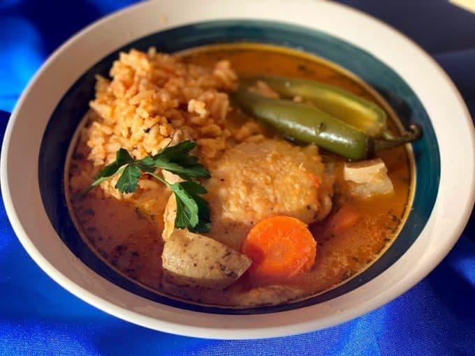 landscape photo of chicken stew