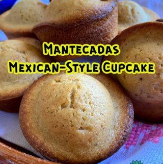 pinterest image of cinnamon cupcakes