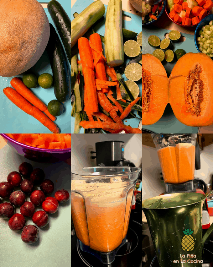 collage of agua fresca ingredients