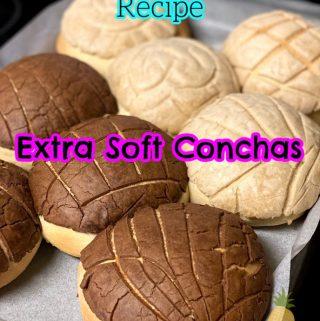 Pinterest image of extra soft conchas