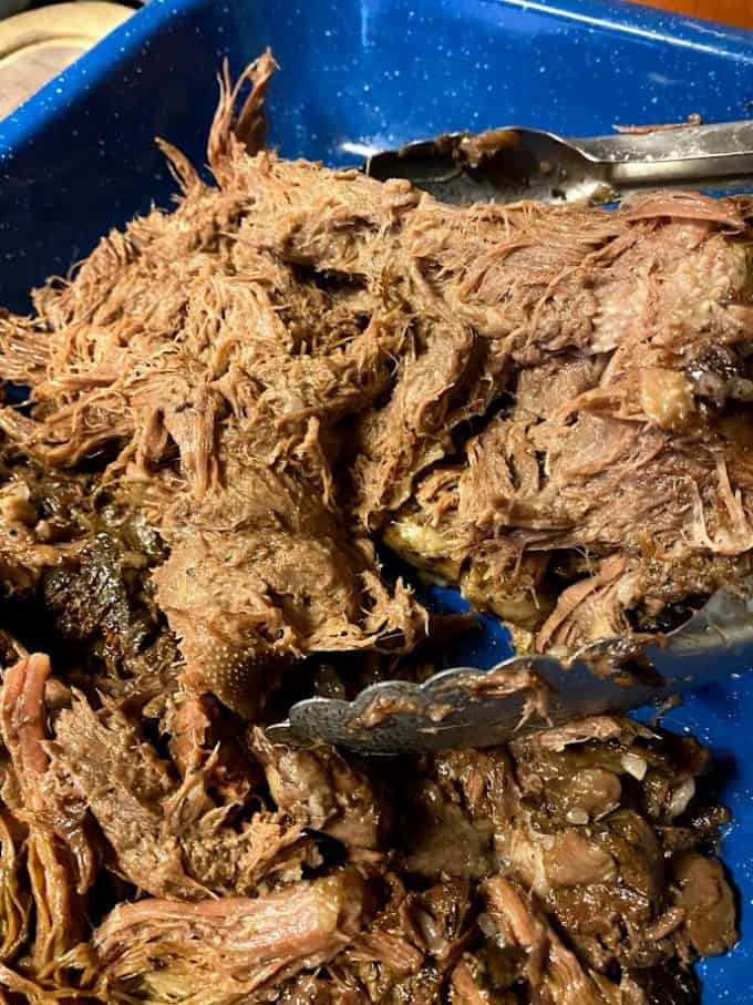 barbacoa cooked and in baking dish
