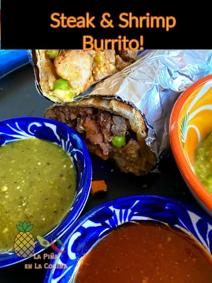 pinterest image with header for burrito