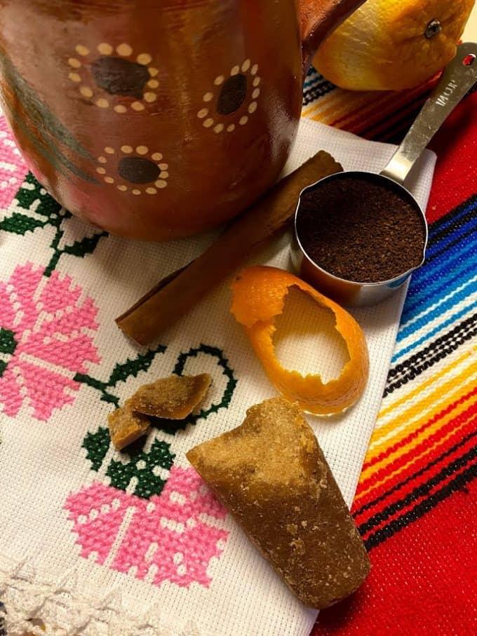 Ingredients for cafe de olla