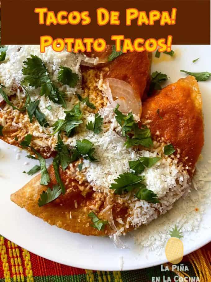 pinterest image of potato tacos