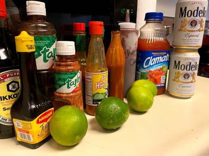 ingredients for micheladas