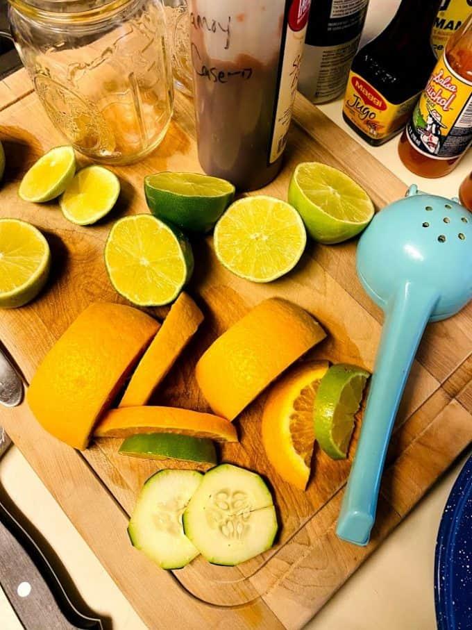 fresh citrus , juicer, mason jar