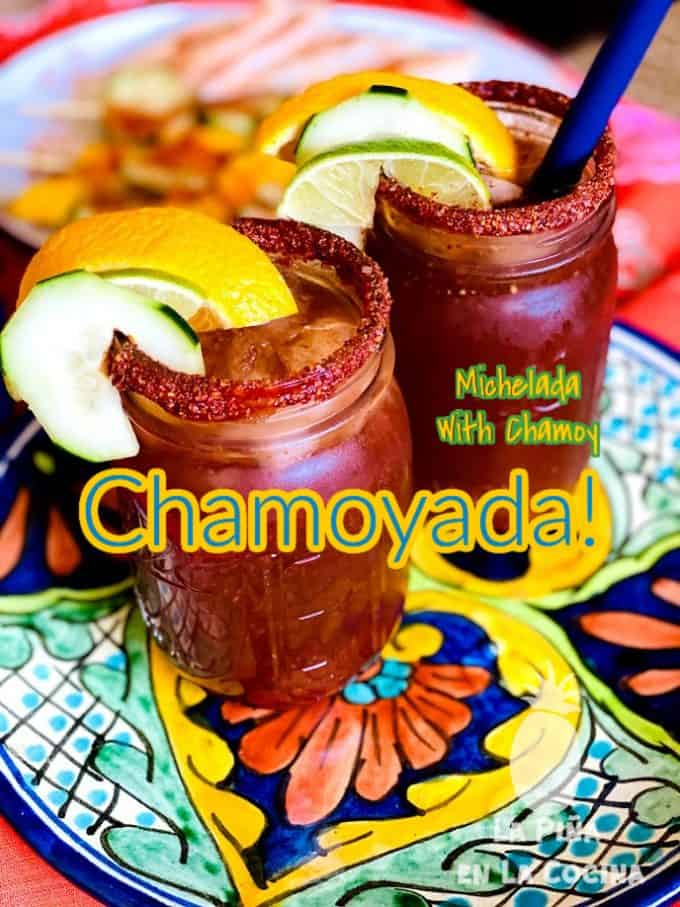 pinterest image of micheladas with title