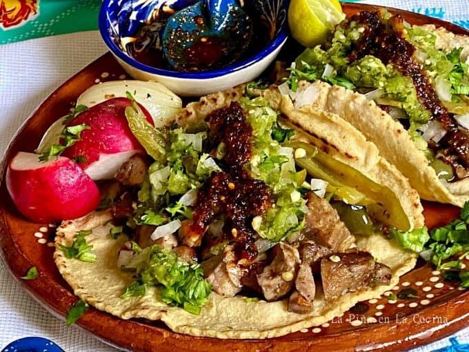 Pork Carnitas taco up close
