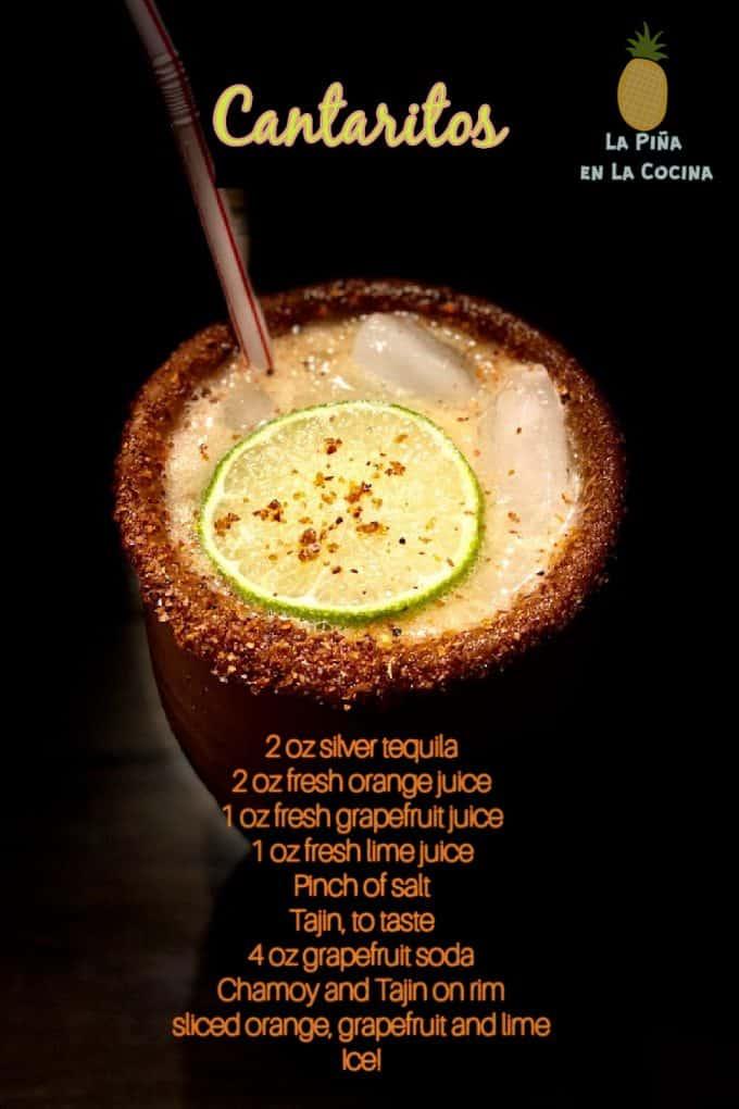 cantaritos cocktail recipe card