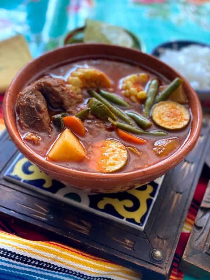 big bowl of mole de olla